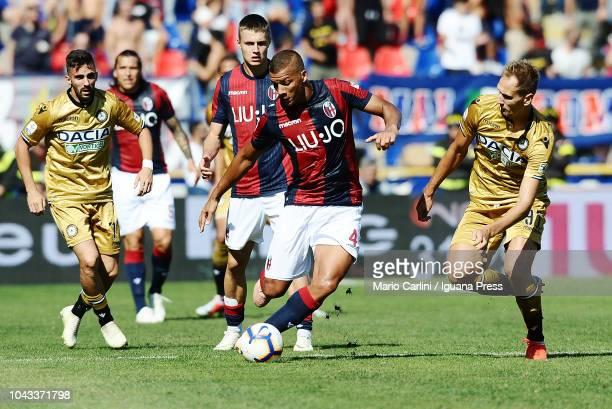 Sebastien De Maio of Bologna FC in action during the Serie A match between Bologna FC and Udinese at Stadio Renato Dall'Ara on September 30 2018 in...