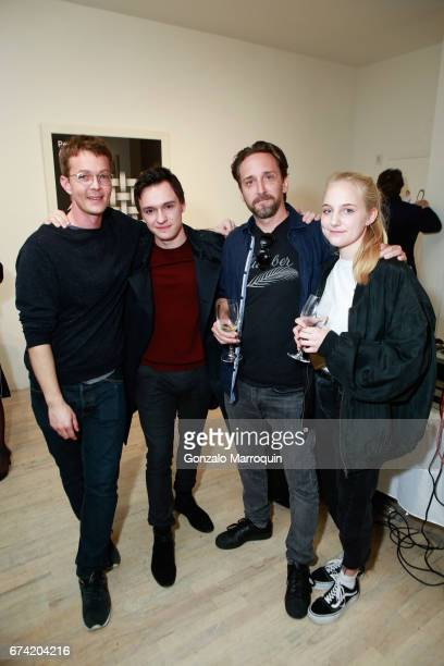 Sebastien Delabays Julien Cortey Camille Pasquier and Marco Heer attend the Swiss Wine Valais Loves New York hosted by Gregory de la Haba Billy The...