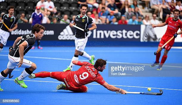 Sebastien Dockier of Belgium in action during day two of the FIH Men's Hero Hockey Champions Trophy 2016 match between Germany and Belgium at Queen...