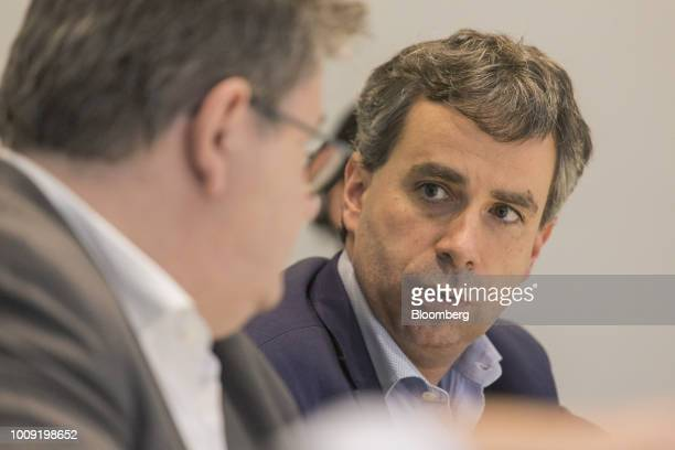 Sebastien Durchon chief financial officer of Carrefour Brasil speaks during an interview in Sao Paulo Brazil on Wednesday Aug 1 2018 Carrefour Brasil...