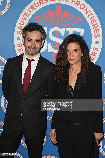 Sebastien Fechner and Barbara Cabrita attend the 'Sauveteurs Sans Frontiere' Charity Party In Paris on March 23 2015 in Paris France