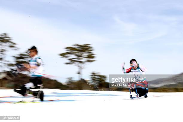 Sebastien Fortier of Canada competes in the Men's 75 km Sitting Classic at Alpensia Biathlon Centre on Day 8 of the PyeongChang 2018 Paralympic Games...