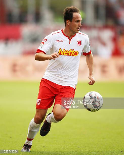 Sebastien Freis of Jahn Regensburg controls the ball during the Second Bundesliga match between SSV Jahn Regensburg and Holstein Kiel at Continental...