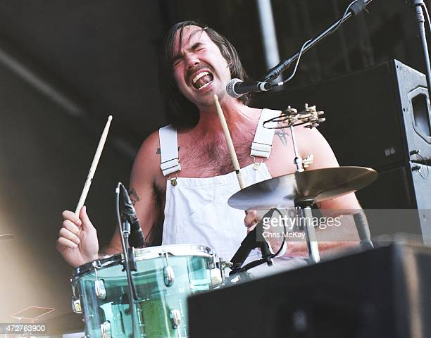 Sebastien Grainger of Death From Above 1979 performs during day 1 of the 3rd Annual Shaky Knees Music Festival at Atlanta Central Park on May 8, 2015...