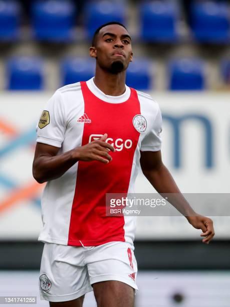 Sebastien Haller of Ajax during the Dutch Eredivisie match between Fortuna Sittard and Ajax at Fortuna Sittard Stadion on September 21, 2021 in...