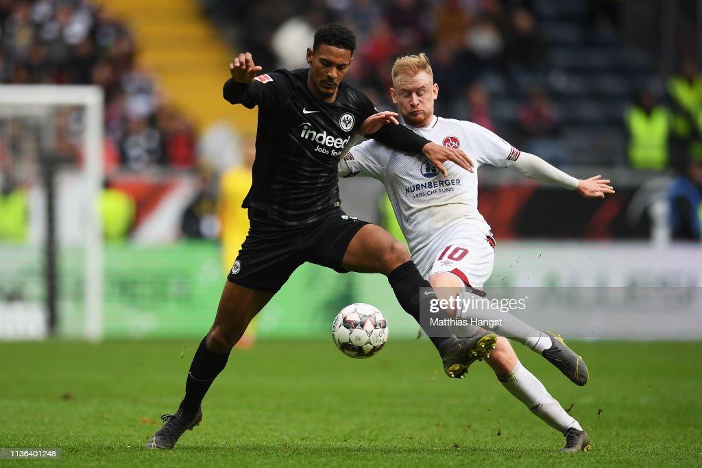 DEU: Eintracht Frankfurt v 1. FC Nuernberg - Bundesliga