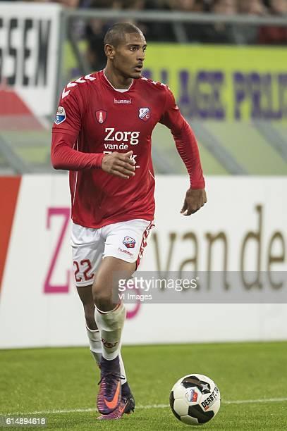 Sebastien Haller of FC Utrechtduring the Dutch Eredivisie match between FC Utrecht and Go Ahead Eagles at the Galgenwaard Stadium on October 15 2016...