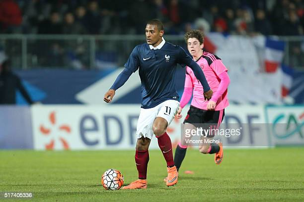 Sebastien Haller of France during the Uefa U21 European Championship qualifier between France and Scotland at Stade Jean Bouin on March 24, 2016 in...