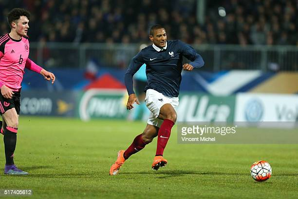 Sebastien Haller of France during the Uefa U21 European Championship qualifier between France and Scotland at Stade Jean Bouin on March 24 2016 in...