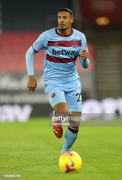 Sebastien Haller of West Ham United in action during the Premier League match between Southampton and West Ham United at St Mary's Stadium on...