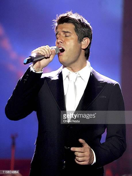 Sebastien Izambard of Il Divo during Il Divo in Concert at Wembley Arena in London April 12 2006 at Wembley Arena in London Great Britain