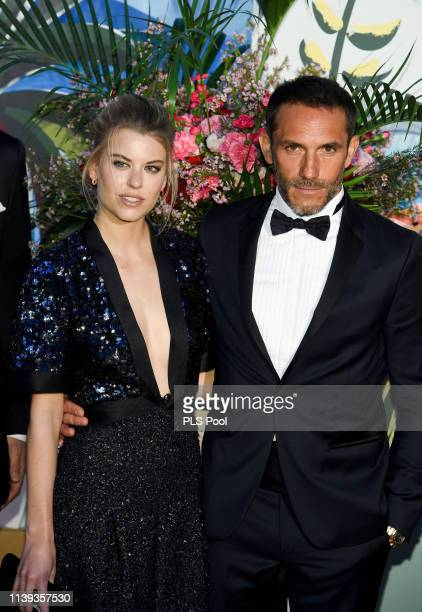 Sebastien Jondeau and a guest attend the Rose Ball 2019 to benefit the Princess Grace Foundation on March 30 2019 in Monaco Monaco