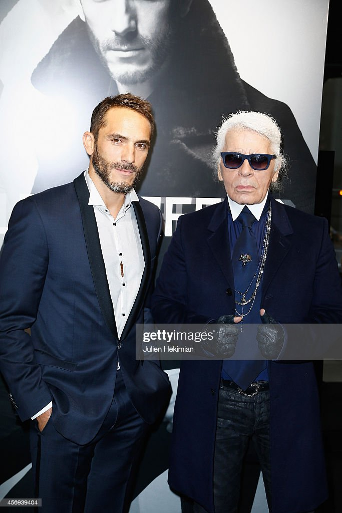 'Karl Lagerfeld Homme' : Opening Boutique At Rue Marbeuf In Paris : News Photo