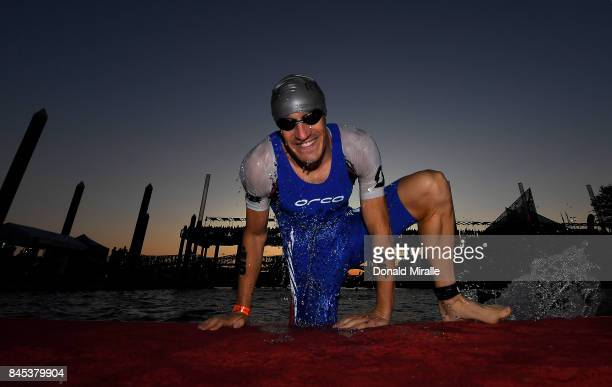 Sebastien Kienle of Germany warms up for the swim during the the Men's IRONMAN 703 St World Championships on September 10 2017 in Chattanooga...