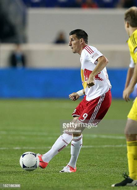 Sebastien Le Toux of the New York Red Bulls in action against the Columbus Crew at Red Bull Arena on September 15 2012 in Harrison New Jersey