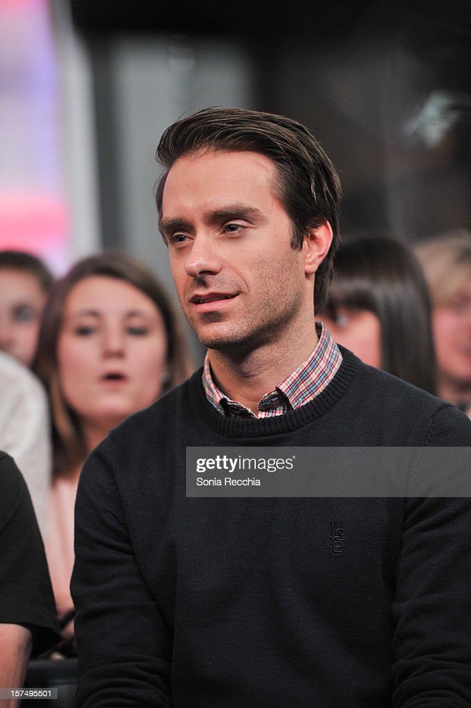 Sebastien Lefebvre attends Simple Plan On New.Music.Live attends at MuchMusic Headquarters on December 3, 2012 in Toronto, Canada.
