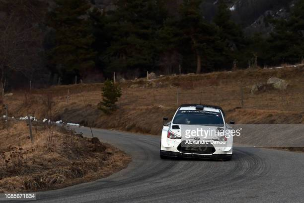 Sebastien Loeb and Daniel Elena during the Test of Sebastien Loeb and Daniel Elena Hyundai i20 Coupe WRC on January 20 2019 in Gap France
