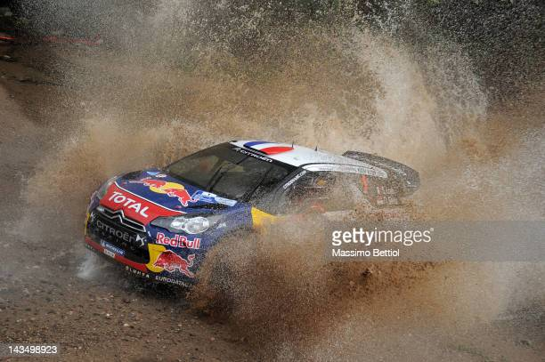 Sebastien Loeb of France and Daniel Elena of Monaco compete in their Citroen Total WRT Citroen DS3 WRC during the Day1 of the WRC Rally Argentina on...