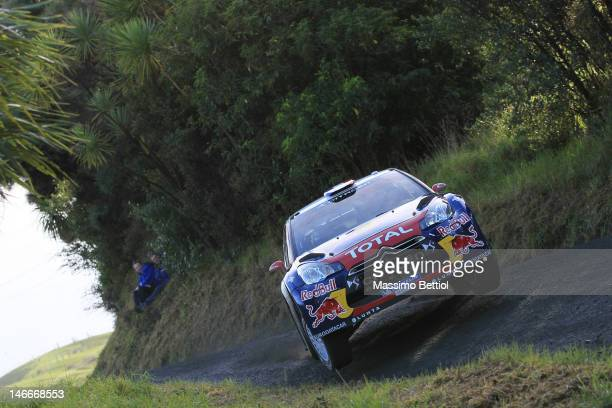 Sebastien Loeb of France and Daniel Elena of Monaco compete in their Citroen Total WRT Citroen DS3 WRC during the Shakedown of the WRC Rally New...