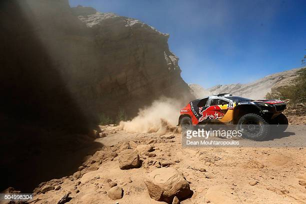 Sebastien Loeb of France and Daniel Elena of Monaco in the PEUGEOT 2008 DKR for TEAM PEUGEOT TOTAL compete on day 12 / stage eleven between La Rioja...