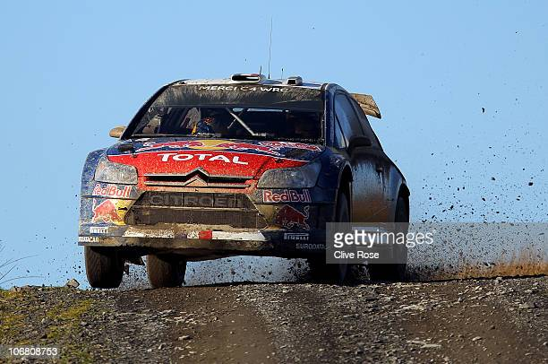 Sebastien Loeb of France drives the Total Citroen C4 during the 'Halfway' stage of the Wales Rally GB on November 13 2010 in Llandovery Wales