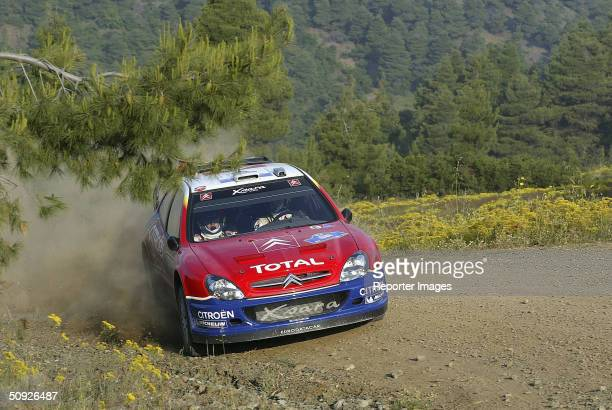 Sebastien Loeb of France in action in his Citreon Xsara during day one of the Acropolis Rally June 4 2004 in Greece