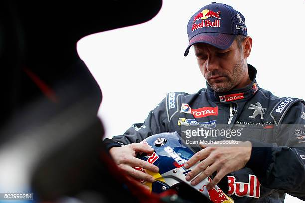 Sebastien Loeb of France in the PEUGEOT 2008 DKR for TEAM PEUGEOT TOTAL gets ready to compete on day 6 during stage six of the 2016 Dakar Rally on...