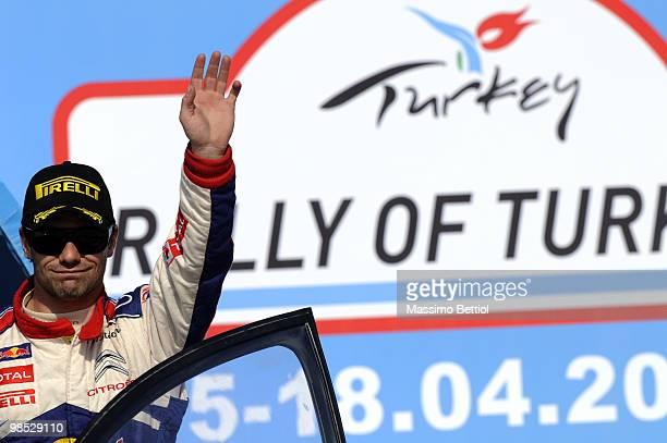Sebastien Loeb of France winner of the WRC Rally of Turkey on April 18, 2010 in Istanbul, Turkey.