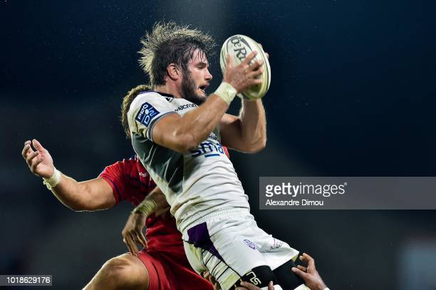 Sebastien Lualhe of Soyaux during the French Pro D2 match between Beziers and Soyaux Angouleme on August 17 2018 in Beziers France