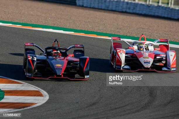 Sebastien , Nissan e.dams, Nissan IM02, action and 29 SIMS Alexander , Mahindra Racing, Mahinda M7Electro, action during the ABB Formula E...