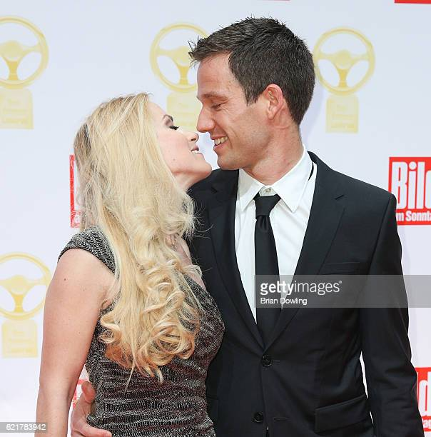 Sebastien Ogier and Andrea Kaiser attend the 'Goldenes Lenkrad' Award at Axel Springer Haus on November 8 2016 in Berlin Germany