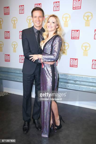 Sebastien Ogier and Andrea Kaiser attend the 'Goldenes Lenkrad' Award at Axel Springer Haus on November 7 2017 in Berlin Germany