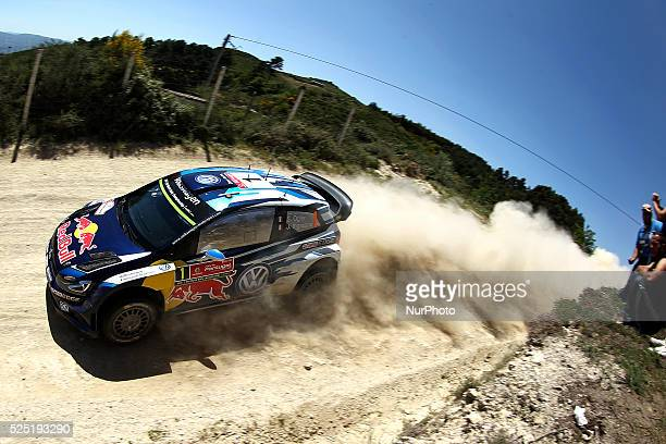Sebastien Ogier and Julien Ingrassia in Volkswagen Polo R WRC of team Volkswagen Motorsport in action during the SS11 Bai��o of WRC Vodafone Rally...