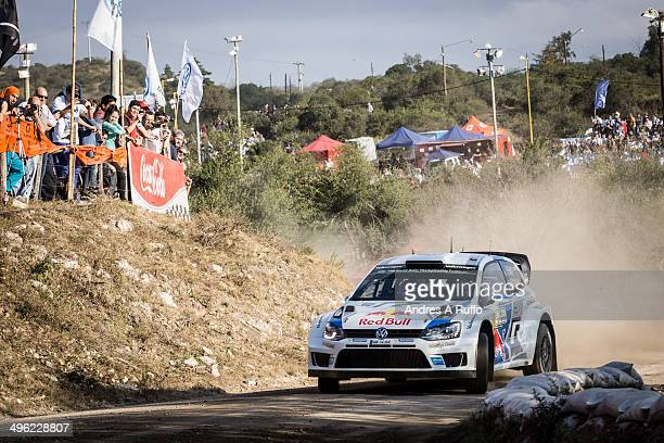 Sebastien Ogier of France and Julien Ingrassia of France compete in Their Volkswagen Polo R WRC Motorsport During the Shakedown of the WRC Argentina...