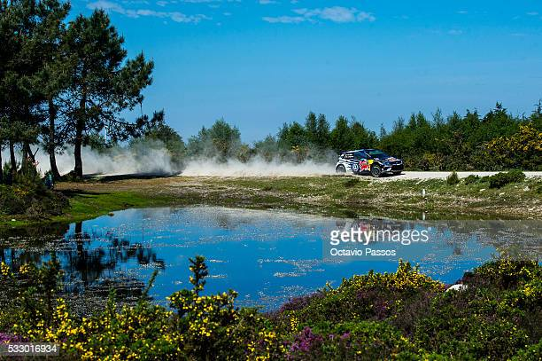 Sebastien Ogier of France and Julien Ingrassia of France compete in their Volkswagen Motorsport Volkswagen Polo R WRC during the SS4 Viana do Castelo...