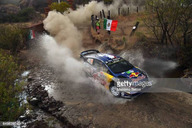 Sebastien Ogier of France and Julien Ingrassia of France compete in their MSport WRT Ford Fiesta WRC during the Shakedown of the WRC Mexico on March...