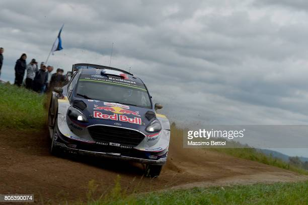 Sebastien Ogier of France and Julien Ingrassia of France compete in their MSport WRT Ford Fiesta WRC during Day Two of the WRC Poland on July 1 2017...