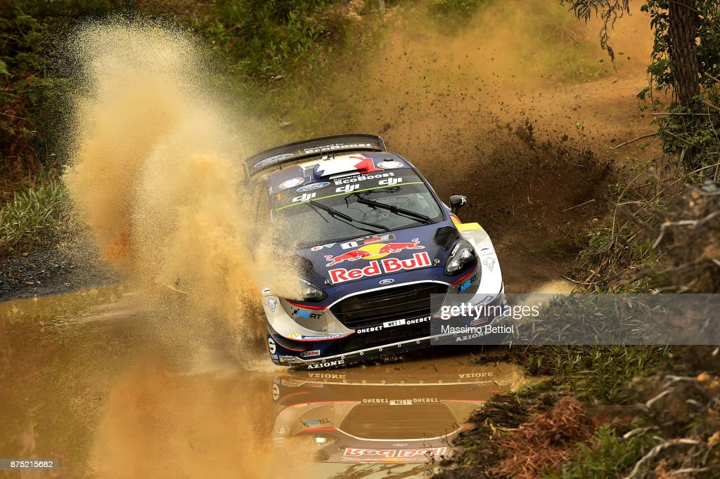 Sebastien Ogier of France and Julien Ingrassia of France compete in their M-Sport WRT Ford Fiesta WRC during Day One of the WRC Australia on November 17, 2017 in Coffs Harbour, Australia.