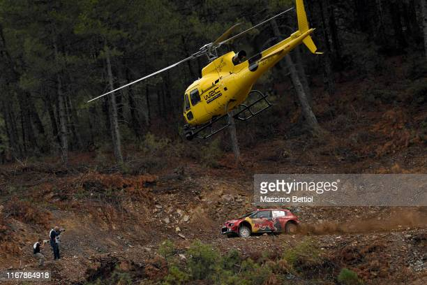 Sebastien Ogier of France and Julien Ingrassia of France compete with their Citroen Total WRT Citroen C3 WRC during Day One of the FIA WRC Turkey on...