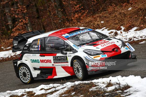 Sebastien Ogier of France and Julien Ingrassia of France compete with their Toyota Gazoo Racing WRT Toyota Yaris WRC during the FIA World Rally...