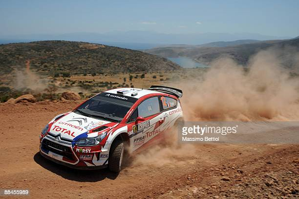 Sebastien Ogier of France and Julien Ingrassia of France in action in the Citroen C4 Junior Team during Leg 1 of the WRC Acropolis Rally of Greece on...
