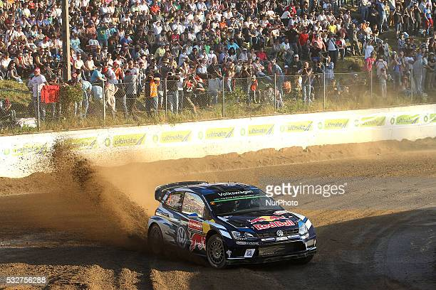Sebastien Ogier of France and Julien Ingrassia of France in Volkswagen Motorsport Volkswagen Polo R WRC in action during the SSS1 Baltar of the WRC...