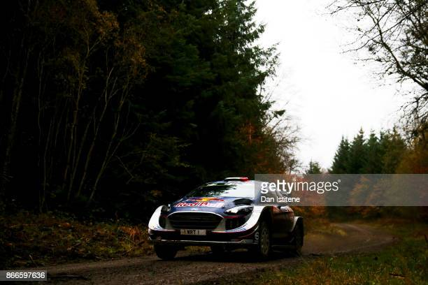 Sebastien Ogier of France and MSport World Rally Team drives with codriver Julien Ingrassia of France during Shakedown for the FIA World Rally...