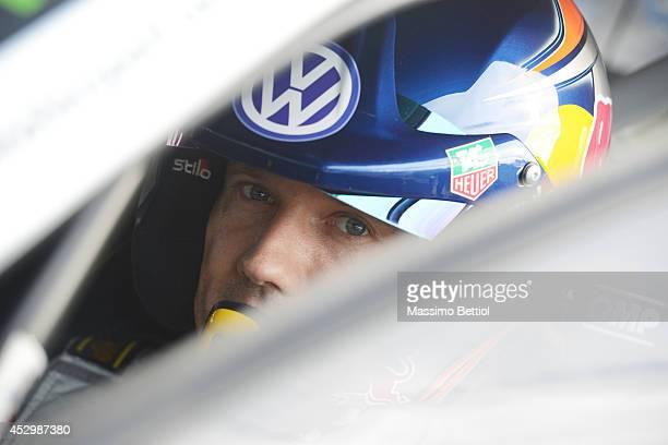 Sebastien Ogier of France during the Shakedown of the WRC Finland on July 31 2014 in Jyvaskyla Finland