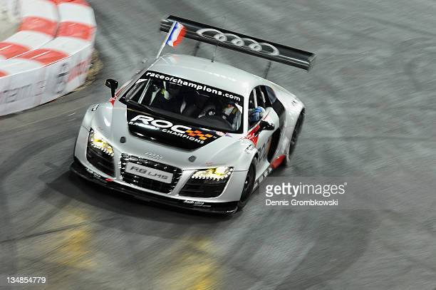 Sebastien Ogier of France races during day two of the race of champions event at the Esprit Arena on December 4 2011 in Duesseldorf Germany