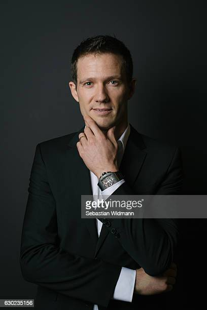 Sebastien Ogier poses for photographs during a portrait session on November 3 2016 in Munich Germany