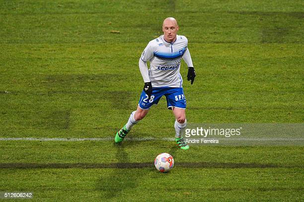 Sebastien Puygrenier of Auxerre during the French Ligue 2 match between Paris FC v Auxerre at Stade Charlety on February 26 2016 in Paris France