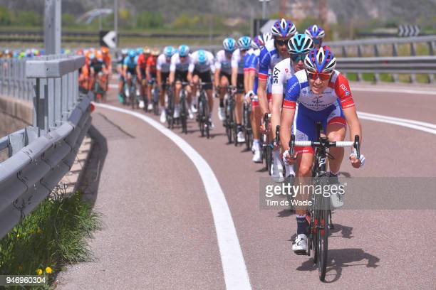 Sebastien Reichenbach of Switzerland and Team Groupama FDJ / during the 42nd Tour of the Alps 2018 Stage 1 a 1346km stage from Arco to Folgaria 1160m...