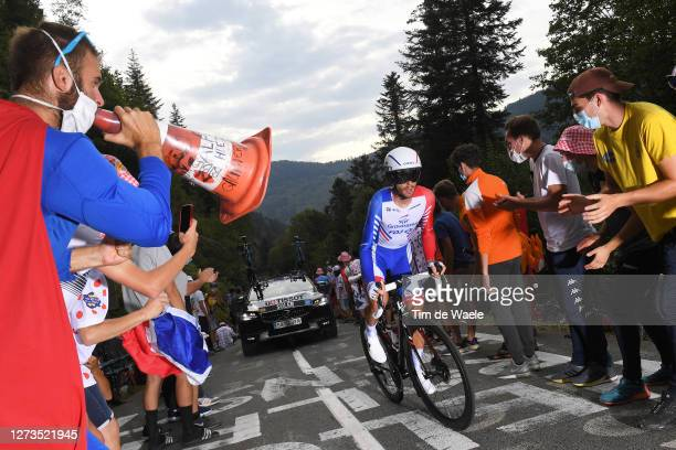 Sebastien Reichenbach of Switzerland and Team Groupama - FDJ / Public / Fans / during the 107th Tour de France 2020, Stage 20 a 36,2km Individual...
