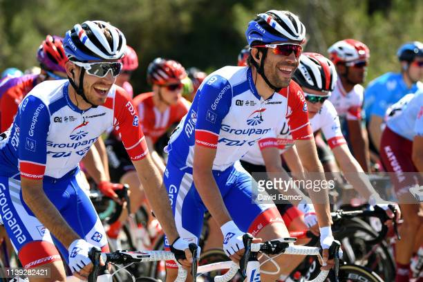 Sebastien Reichenbach of Switzerland and Team Groupama - FDJ / Thibaut Pinot of France and Team Groupama - FDJ / during the 99th Volta Ciclista a...